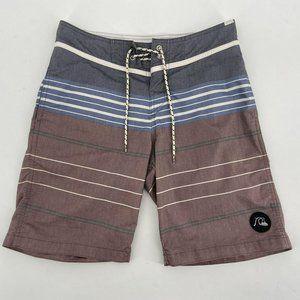 Quiksilver Multicolor Stripe Board Shorts Mens 28